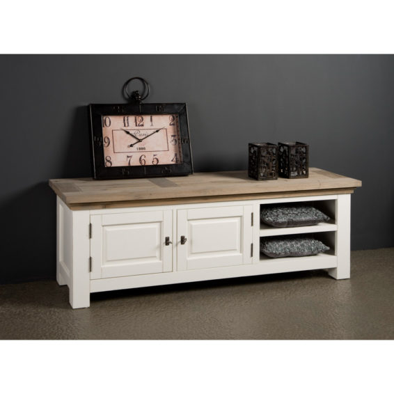 Tv-meubel 'Parma' - 160 cm - White antique