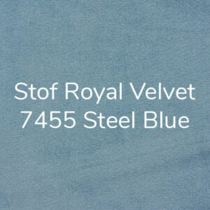 Stof Royal Velvet 7455 Steel Blue