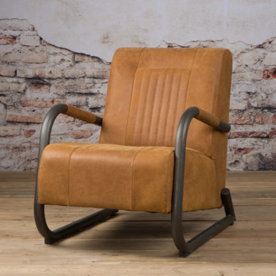 Tower Living 'Barn' Fauteuil - Leder Rust