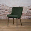 Tower Living Eetkamerstoel 'Oledo' Velvet - Buvel 78 green