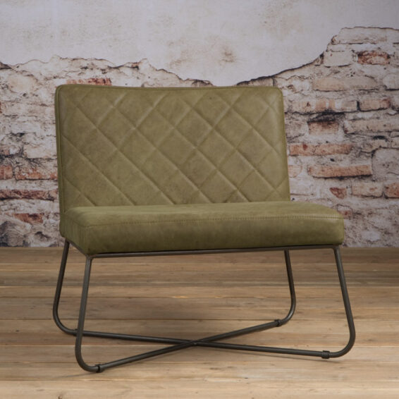 Tower Living Fauteuil 'Rodeo' - Leder Olive