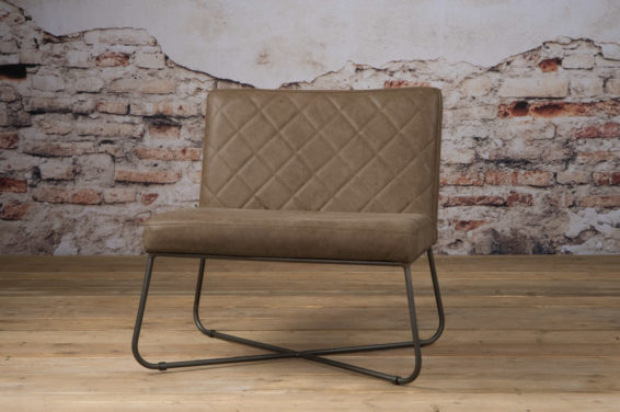 Tower Living Fauteuil 'Rodeo' - Leder Taupe