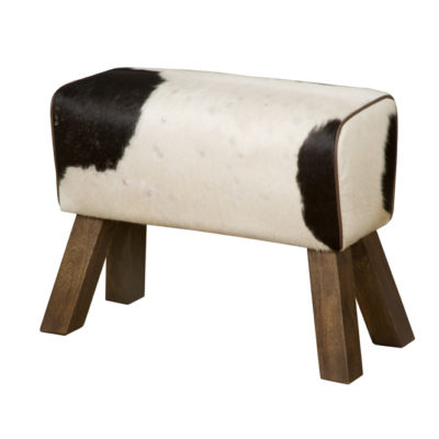 Tower Living RENEW - Bank/kruk met koeienhuid - Zwart