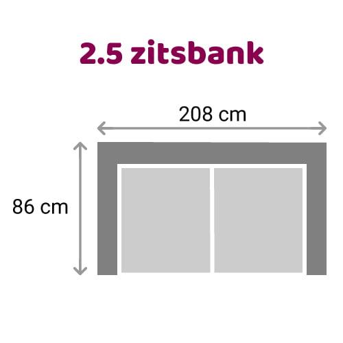 Zitzz Carmen Bank 2,5 zits