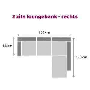 Loungebank 2 zits - rechts