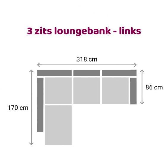 Zitzz Carmen - Loungebank - 3 zits links