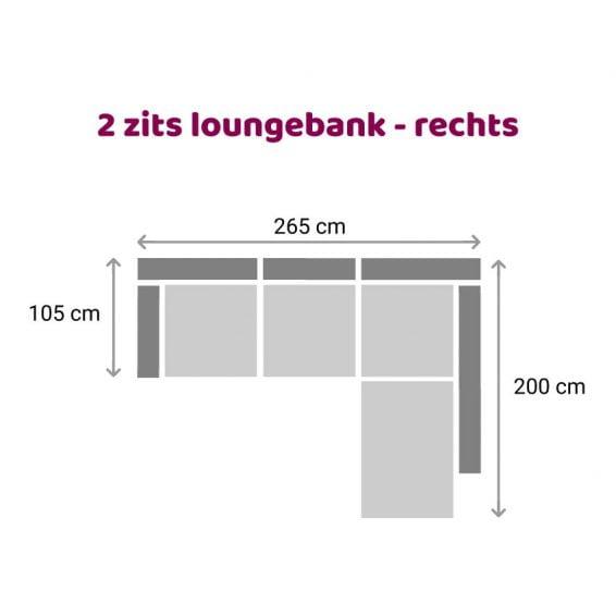 Zitzz Hamilton Longchair 2-zits - rechts