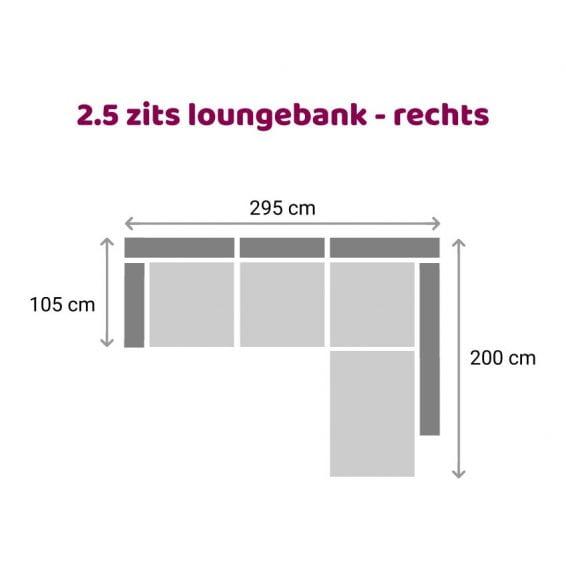 Zitzz Hamilton Longchair 2,5-zits - rechts
