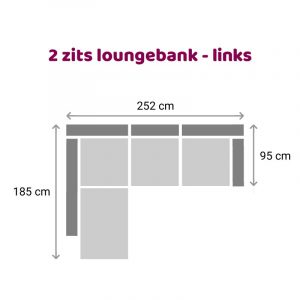 Loungebank 2 zits - links