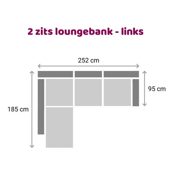 Zitzz Claudia - Maya - Tanita - Longchair 2-zits links