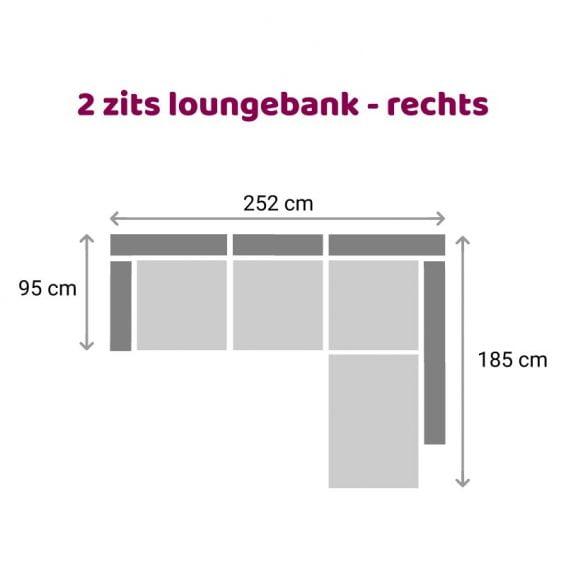 Zitzz Claudia - Maya - Tanita - Loungebank - 2-zits rechts