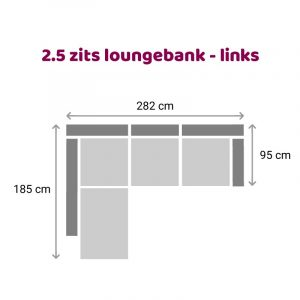 Loungebank 2.5 zits - links