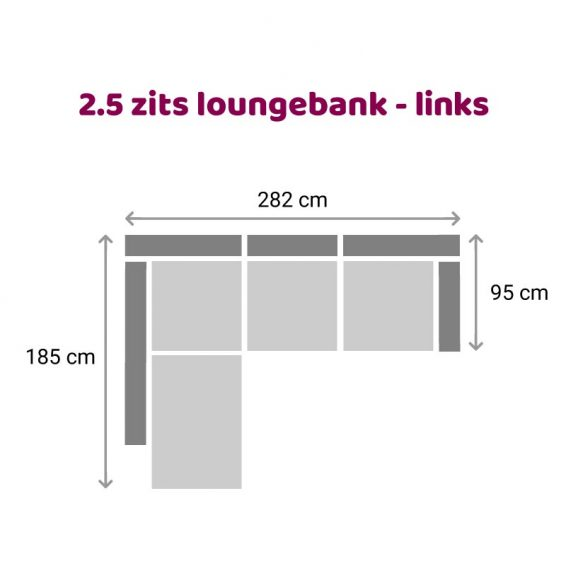 Zitzz Claudia - Maya - Tanita - Loungebank - 2,5 zits links