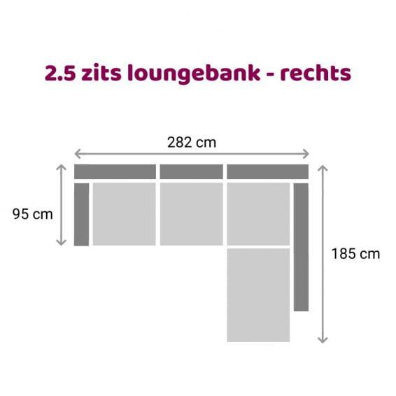 Zitzz Claudia - Maya - Tanita - Loungebank - 2,5 zits rechts
