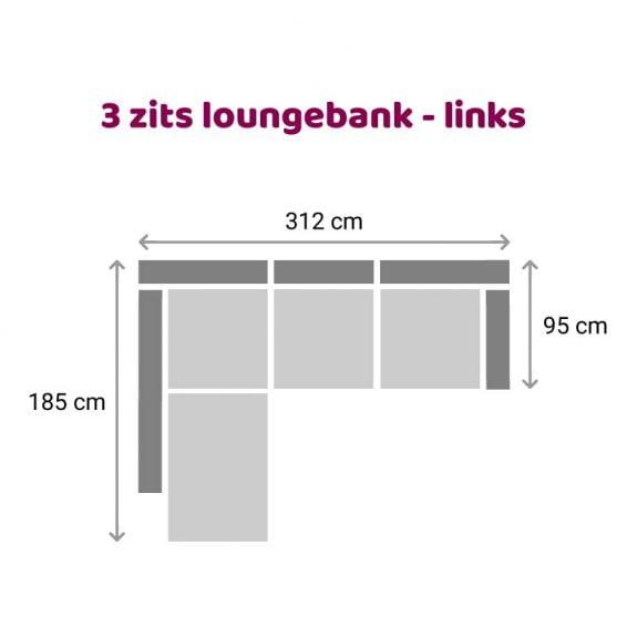 Zitzz Claudia - Maya - Tanita - Loungebank - 3-zits links