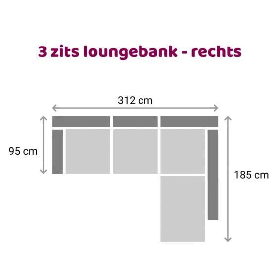 Zitzz Maya - Tanita - Loungebank - 3-zits rechts