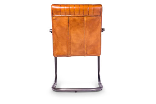 Eetkamerstoel Rico met armleuningen - rond 32 - Vertical stiksel - Buffalo Light Brown