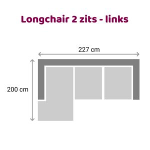 Loungebank 2 zits - links