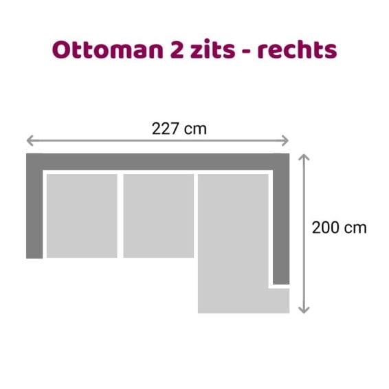 Zitzz Emil - Ottoman - 2 zits rechts