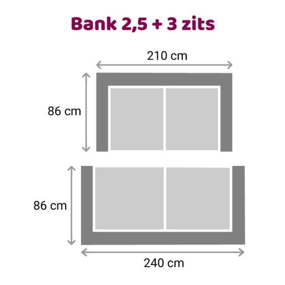 Zitzz Leola - Bank - 2,5-3-zits