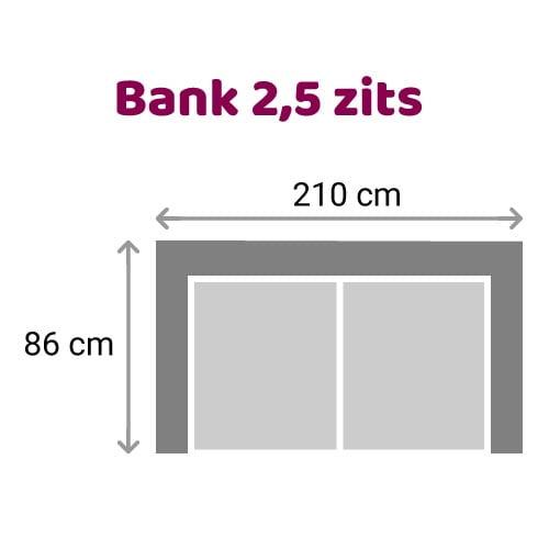 Zitzz Leola - Bank - 2,5-zits
