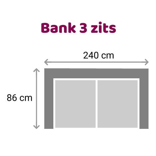 Zitzz Leola - Bank - 3-zits