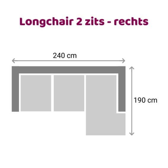 Zitzz Leola - Loungebank - 2-zits - rechts