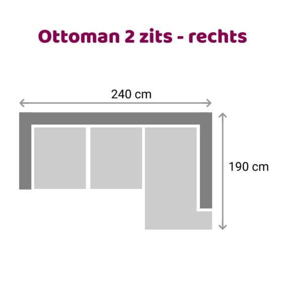 Zitzz Leola - Ottoman - 2-zits - rechts