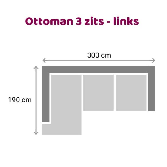 Zitzz Leola - Ottoman - 3-zits - links
