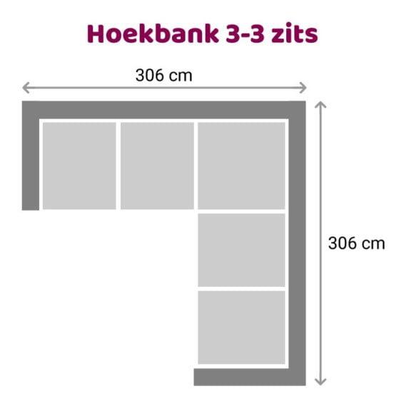 Zitzz Hoekbank Vettel 3-3 zits