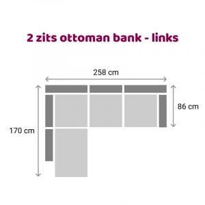 Ottoman 2 zits - links
