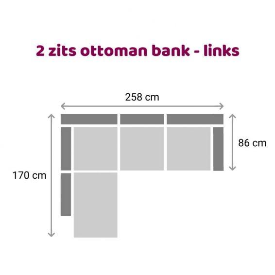 Zitzz Carmen - Ottoman 2 zits links