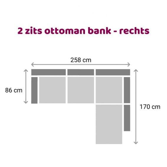 Zitzz Carmen - Ottoman 2 zits rechts