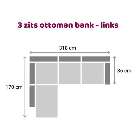 Zitzz Carmen - Ottoman 3 zits links
