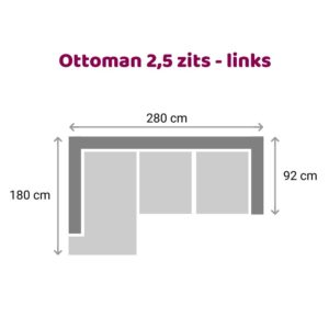 Ottoman 2.5 zits - links