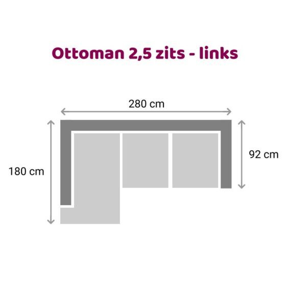 Zitzz Claudia - Ottoman 2,5 zits links