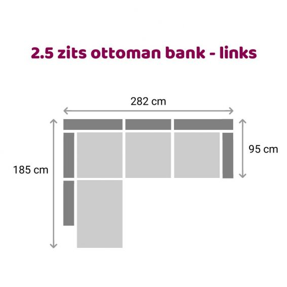 Zitzz Maya Ottoman 2,5 zits links