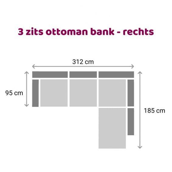 Zitzz Maya Ottoman 3 zits rechts