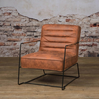 Tower Living - AY-0017 - Fauteuil Bari - Taurus 69 rust