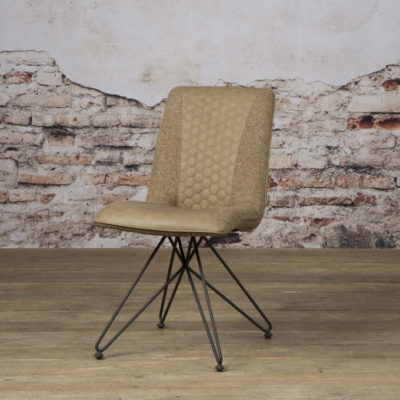 Tower Living - HU 0011 - Eetkamerstoel Capri - vintage brown + linen brown