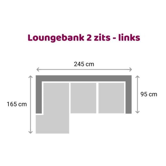 Tower Living SIDD - Baltimore - Loungebank 2 zits - Links