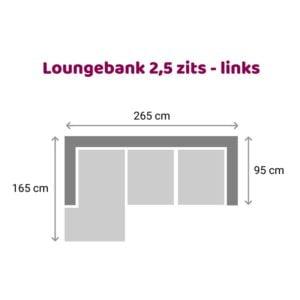 Loungebank 2.5 zits - links