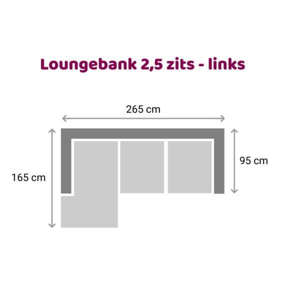 Tower Living SIDD - Baltimore - Loungebank 2,5 zits - Links