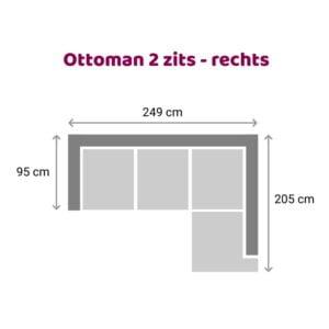 Ottoman 2 zits - rechts